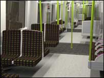 Interior of new carriage