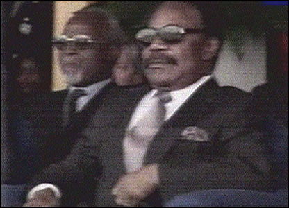 Omar Bongo of Gabon (Screen grab: RTNC TV)