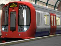 New Tube train - pic supplied by Metronet