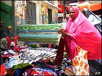 Somali woman at Mogadishu market