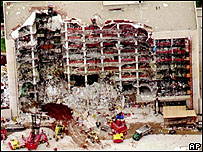 The devastation caused by Oklahoma City bomb