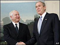 Robert Gates with President Bush