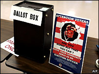 Ballot box, in Falls Church, Virginia