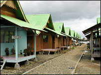 Temporary barracks in Aceh (file image)
