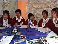 Los alumnos del Mar�a del Carmen Serd�n, en M�xico.