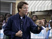 John Edwards in New Orleans