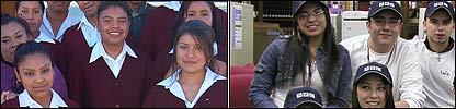 La escuela Mar�a del Carmen Serd�n,  en San Juan Tianguisminalco, y Gage Park High School, en Chicago