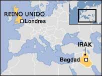 Mapa Londres-Bagdad