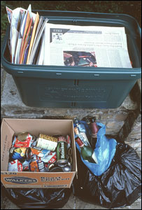 Kerbside waste collection (picture: Science Photo Library)