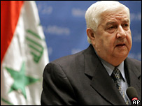 Syria's foreign minister Walid Moallem
