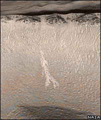 Gully on Mars   Image: Nasa