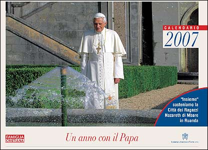 Cover of papal calendar (image by permission of the photographer, Giancarlo Giuliani)