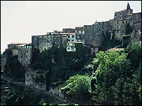 Paisaje de Liguria, Italia
