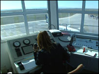 Ercan airport control tower