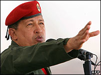 Hugo Chavez gives a speech at Fuerte Tiuna in Caracas, 28 December