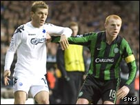 FC Copenhagen's Oscar Wendt (left) and Celtic captain Neil Lennon
