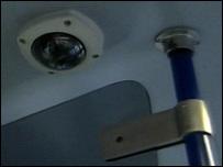 CCTV camera on train