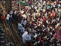 Supporter of the opposition Awami League in Dhaka. File photo