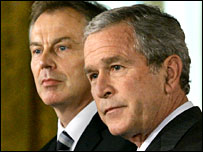 Tony Blair and George W Bush (file photo)