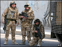 Three British soldiers in Iraq