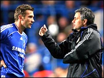 Andriy Shevchenko and Jose Mourinho