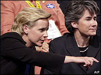 Mary Cheney, left, and her partner Heather Poe