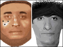 E-fit images of the suspects (from Kent Police)