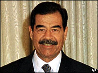 Saddam Hussein as president in 2001