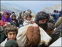 Kurdish refugees from Saddam in 1991