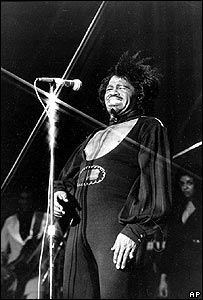 James Brown in concert in 1974