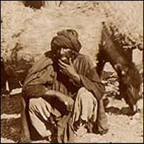A captured Pashtun tribesman