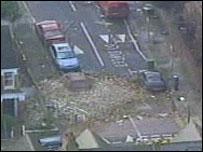 Destruction caused by tornado