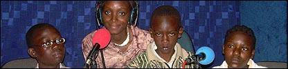 Students at Kayole Primary, Kenya