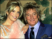 Rod Stewart and fianc�e Penny Lancaster