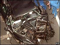Scene of the fatal car crash