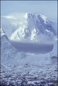 Antarctic ice-capped mountain (Image: SPL)