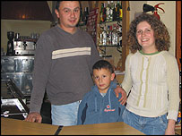 Elena Hetea with husband and son, Danut