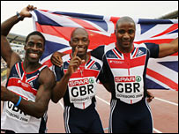 Great Britain's 4x100m at the European Championships