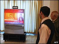 Iraquíes ven anuncio de la ejecución en la TV