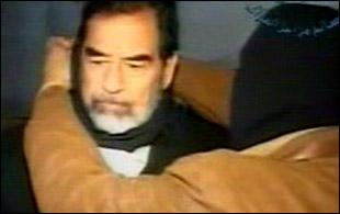 Saddam Hussein on gallows