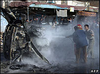 Kufa car bombing aftermath