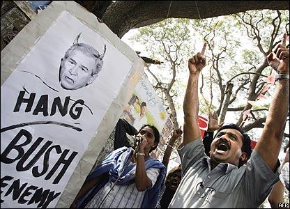 Manifestantes en India