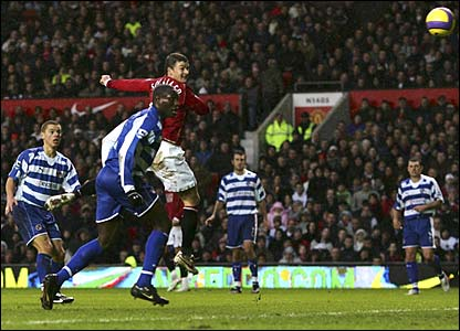 Ole Gunnar Solskjaer opens the scoring at Old Trafford