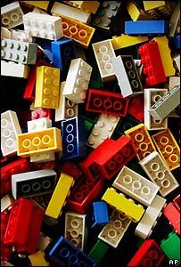 Ladrillos de juguete Lego.