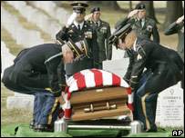 A US soldier is buried