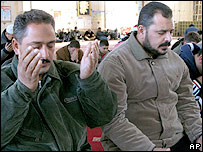 Iraqi Sunni Muslims pray in Baghdad