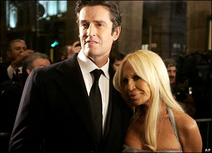 Donatella Versace and British actor Rupert Everett