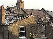 Damaged roof. Photo by Joe C
