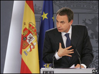 Spanish Prime Minister Jose Luis Rodriguez Zapatero