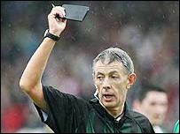 Tyrone referee Michael Hughes